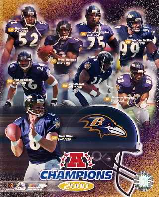 Ravens LIMITED STOCK 2000 AFC Champs Team Composite