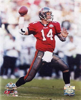 Brad Johnson LIMITED STOCK Tampa Super Bowl 37 8x10 Photo