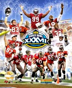 Bucs 2001 Limited Edition Super Bowl 37 8X10 Photo