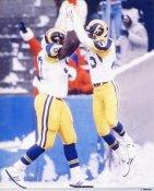 Jackie Smith & Gray  LA Rams 8X10 Photo
