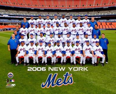 Mets 2006 Team Sit Down New York 8X10 Photo