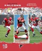 Warrick Dunn, Michael Vick, Alge Crumpler Falcons 2006 Big 3 8X10 Photo