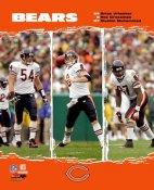 Mushin Muhammad, Rex Grossman, Brian Urlacher Bears 2006 Big 3 8X10 Photo
