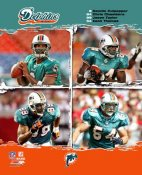 Daunte Culpepper, Chris Chambers, Jason Taylor, Zach Thomas Dolphins 2006 Big 4 8X10 Photo