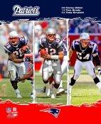 Corey Dillon, Tom Brady, Tedy Bruschi Patriots 2006 Big 3 8X10 Photo