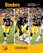 Willie Parker, Ben Roethlisberger, Hines Ward Steelers Big 3 2006 Offense LIMITED STOCK 8X10