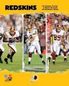 Clinton Portis, Mark Brunell, Santana Moss Redskins 2006 Big 3 LIMITED STOCK 8X10 Photo