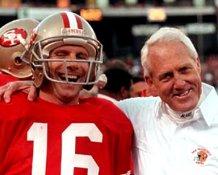 Joe Montana & Bill Walsh San Francisco 49ers 8X10 Photo