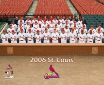 Cardinals 2006 St. Louis Team Sitdown 8X10 Photo