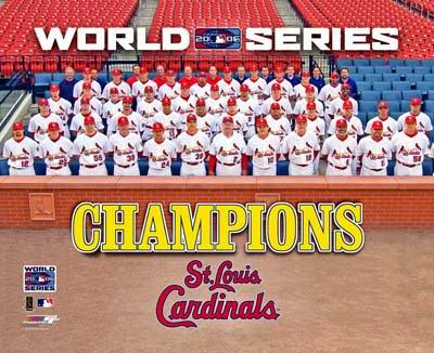 Cardinals 2006 World Series Team Photo 8x10