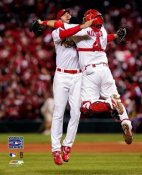 Adam Wainwright / Yadier Molina 2006 World Series LIMITED STOCK 8x10 Photo
