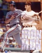Cal Ripken Jr. & Lou Gehrig Iron Men 8X10 Photo