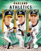 Oakland A's Big 3 8X10  Photo