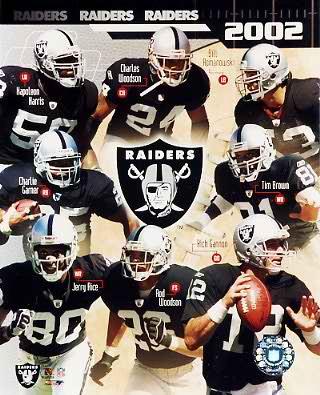 Raiders 2002 Oakland Team Composite 8X10 Photo