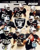Raiders 2002 Oakland Team Composite 8X10 Photo
