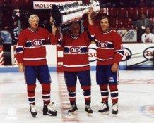 Jean Beliveau, Maurice Richard, Guy Lafleur Stanley Cup Canadiens LIMITED STOCK 8x10 Photo