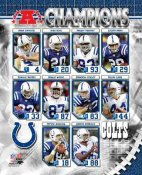 Colts 2006 AFC Champs Composite LIMITED STOCK 8X10 Photo