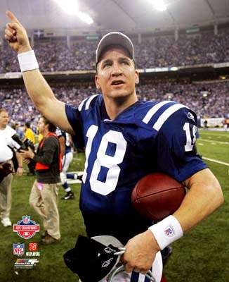 Peyton Manning AFC Champs Game Colts 8X10 Photo