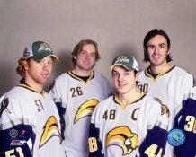 Brian Campbell, Thomas Vanek, Daniel Briere, Ryan Miller 2006 Sabres All-Stars 8x10 Photo
