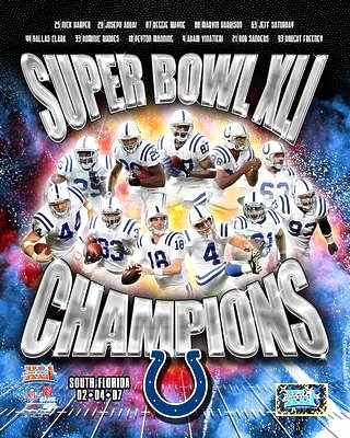 Colts 2007 Super Bowl 41 Champs Composite 8X10 Photo