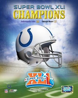 Colts 2007 Helmet Super Bowl 41 Champs LIMITED STOCK 8X10 Photo