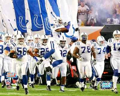Colts 2007 Super Bowl 41 Introduction LIMITED STOCK 8X10 Photo