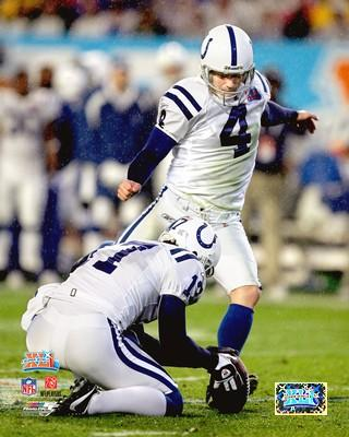 Adam Vinatieri LIMITED STOCK Super Bowl 41 Colts 8X10 Photo
