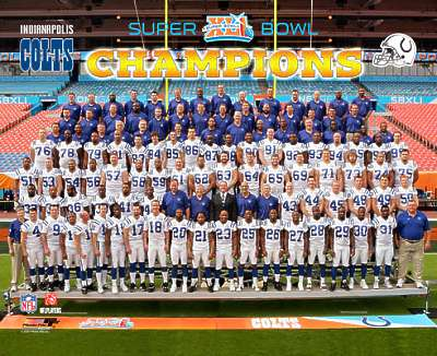 Colts 2007 Team Photo Super Bowl 41 Champs LIMITED STOCK 8X10 Photo
