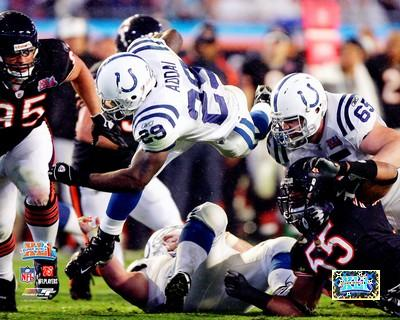 Joseph Addai LIMITED STOCK Super Bowl 41 Colts 8X10 Photo