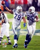 Raheem Brock & Darrell Reid Super Bowl 41 LIMITED STOCK Colts 8X10 Photo