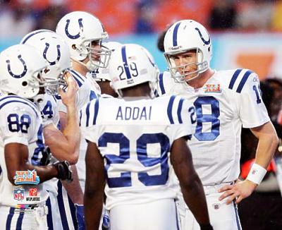 Peyton Manning LIMITED STOCK Huddle Super Bowl 41 Colts 8X10 Photo