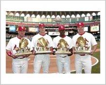 Scott Rolen, Jim Edmonds, Mike Matheny, Edgar Renteria Cardinals Gold Gloves 8X10 Photo