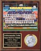 Colts 2006 Super Bowl 41 Champions 12x15 Black Marble Style Team Plaque