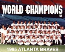 Braves 1995 World Series Champs Team 8X10 Photo