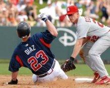 Matt Diaz & David Eckstein Braves Cardinals 8X10 Photo