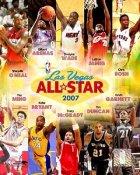 NBA 2007 All-Stars Shaq O'Neal, Gilbert Arenas, Dwyane Wade, Lebron James, Chris Bosh, Yao Ming, Kobe Bryant, Tracy McGrady, Tim Duncan, Kevin Garnett LIMITED STOCK