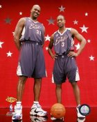 Dwyane Wade & Shaq O'Neal LIMITED STOCK 2007 All-Star Game 8x10 Photo