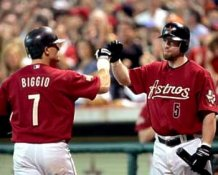 Jeff Bagwell & Craig Biggio Astros 8X10 Photo