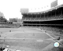 E3 Yankee Stadium 1951 World Series Game 6 - Hank Bauer hitting 3 run triple 8x10 Photo