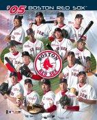 Matt, Mantei, Trot Nixon, Johnny Damon, Bill Mueller, Curt Schilling, Keith Foulke Boston 2005 Red Sox Team 8x10 Photo