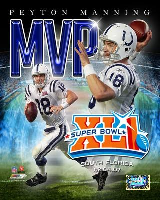 Peyton Manning LIMITED STOCK MVP Super Bowl 41 Colts 8X10 Photo