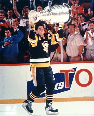 Mario Lemieux 1991 Stanley Cup LIMITED STOCK Penguins 8x10 Photo