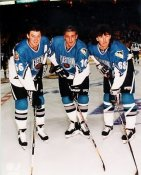 Mario Lemieux, Ron Francis, Jaromir Jagr All-Star Game Rare 8X10 Photo LIMITED STOCK