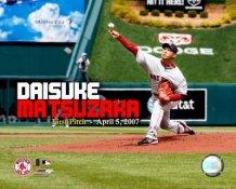 Daisuke Matsuzaka 1st Pitch Red Sox LIMITED STOCK 8x10 Photo