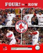 JD Drew, Jason Varitek, Mike Lowell, Manny Ramirez   Boston 2007 4 in a row 8x10 Photo