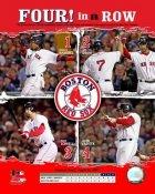 JD Drew, Jason Varitek, Mike Lowell, Manny Ramirez   Boston 2007 4 in a row 8x10 Photo