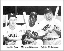 Nellie Fox - Minnie Minosos - Eddie Robinson Chicago Cubs 8X10 Photo