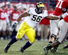 Lamarr Woodley Michigan Wolverines 8x10 Photo