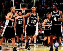 Spurs 2007 Finals Celebrate Game 3 Win SATIN 8X10 Photo LIMITED STOCK