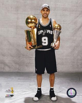 Tony Parker 2007 Champs Trophy Spurs 8X10 Photo LIMITED STOCK